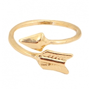 Trendy ringen arrow Goud