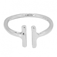 Trendy ringen double bar Zilver