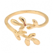 Trendy ringen leaves Goud