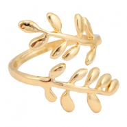 Tremdy ringen branch & leaves Goud