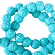 Sparkle beads 8mm Lagoon blue