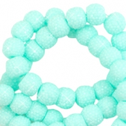 Sparkle beads 8mm Bright turquoise green