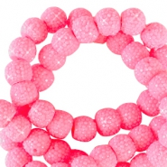 Sparkle beads 8mm Tropical pink
