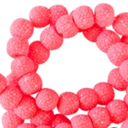 Sparkle beads 6mm Fiery coral pink