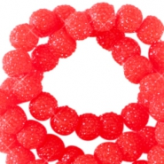 Sparkle beads 8mm Candy red