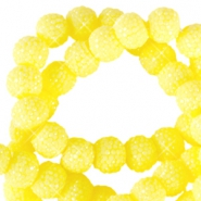 Sparkle beads 8mm Light yellow