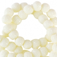 Sparkle beads 8mm Pastel yellow