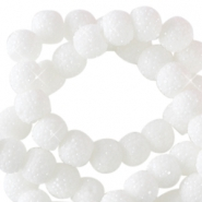 Sparkle beads 6mm White