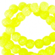 Sparkle beads 6mm Neon geel