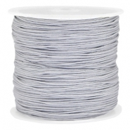 Draad macramé 0.8mm Light silver grey