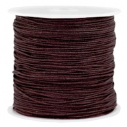 Draad macramé 0.8mm Dark chocolate brown
