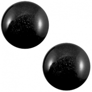 20 mm classic Super Polaris cabochon Nero zwart