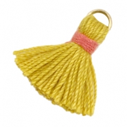 Ibiza style kwastje 1.5cm Goud-mustard yellow-indian red