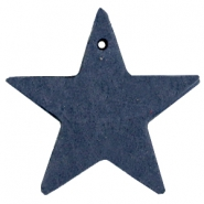 Hangers DQ leer ster Dark denim blue