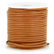 Leer DQ rond 1 mm Copper brown