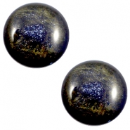 12 mm classic Polaris Elements Stardust cabochon Midnight blue