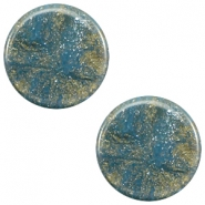 12 mm platte Polaris Elements cabochon Stardust Blue shade