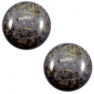 12 mm classic Polaris Elements Stardust cabochon Dark grey