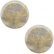 12 mm platte Polaris Elements cabochon Stardust Grey