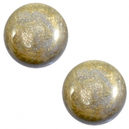12 mm classic Polaris Elements Stardust cabochon Grey
