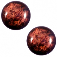 12 mm classic Polaris Elements Stardust cabochon Port royale red