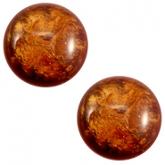 12 mm classic Polaris Elements Stardust cabochon Topaz bruin