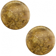 12 mm platte Polaris Elements cabochon Stardust Warm taupe brown