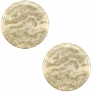 12 mm platte Polaris Elements cabochon Stardust Sand beige
