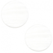 12 mm platte Polaris Elements cabochon Sparkle dust Ivory white