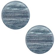 12 mm platte Polaris Elements cabochon Sparkle dust Rustic blue