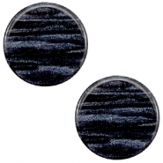 12 mm platte Polaris Elements cabochon Sparkle dust Indigo blue
