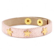 Armband reptile met studs star gold Metallic light vintage rose