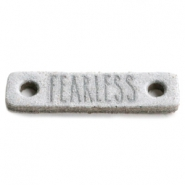 Tussenstukken DQ leer FEARLESS Light grey