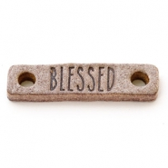 Tussenstukken DQ leer BLESSED Smoke cognac brown