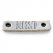 Tussenstukken DQ leer BLESSED Light grey