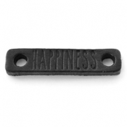 Tussenstukken DQ leer HAPPINESS Nero black