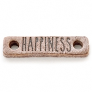 Tussenstukken DQ leer HAPPINESS Smoke cognac brown
