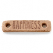 Tussenstukken DQ leer HAPPINESS Light cognac brown