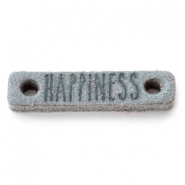 Tussenstukken DQ leer HAPPINESS Grey