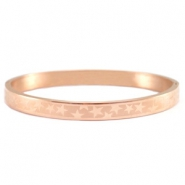 Stainless steel armband met sterrenmotief roestvrij staal (RVS) Rosegold