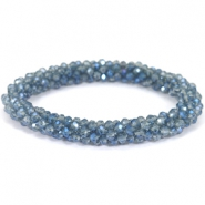Facet armband top quality Light montana-blue diamond coating