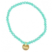 Facet armbanden Sisa top quality 4x3mm Turquoise groen opaque