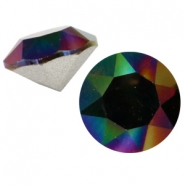 Swarovski puntstenen SS 39 (8 mm) Crystal rainbow dark