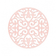 Bohemian tussenstukken rond 23mm Light rose