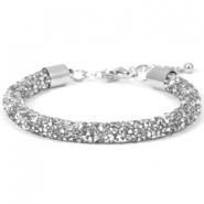 Armband 7mm crystal diamond Crystal-labrador silver