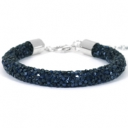 Armband 8mm crystal diamond Monatana blue