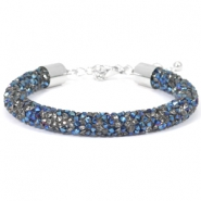 Armband 8mm crystal diamond Crystal-metallic blue