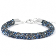 Armband 7mm crystal diamond Crystal-metallic blue
