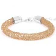Armband 8mm crystal diamond Smoked topaz