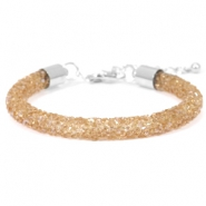 Armband 7mm crystal diamond Smoked topaz